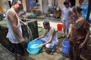 Dịch vụ bán nước sạch bằng xe téc tại huyện Thanh Trì