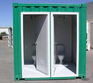 Nhà vệ sinh di động 2 buồng